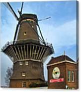 Tilting At Windmills In Amsterdam Canvas Print