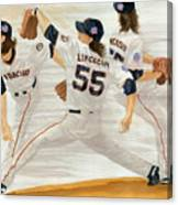 Tim Lincecum Study 2 World Series Canvas Print