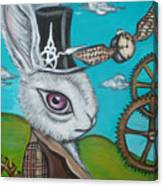 Time Flies For The White Rabbit Canvas Print