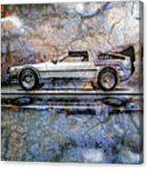 Time Machine Or The Retrofitted Delorean Dmc-12 Canvas Print