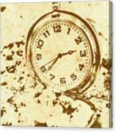 Time Worn Vintage Pocket Watch Canvas Print