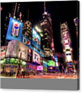 Times Square 2010 New Year Neon Canvas Print