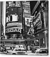 Times Square Black And White Canvas Print