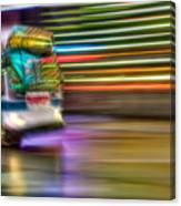 Times Square Bus Canvas Print