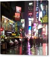 Times Square In The Rain 1 Canvas Print
