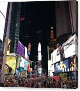 Times Square On A Tuesday. Canvas Print