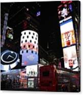 Times Square On News Year Eve Canvas Print