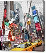 Times Square Pop Art Canvas Print