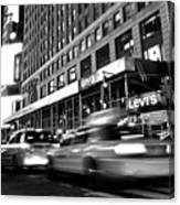 Times Square Taxi Canvas Print