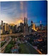 Timeslice Of Day To Night Of Kuala Lumpur City Canvas Print