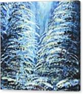 Tim's Winter Forest Canvas Print