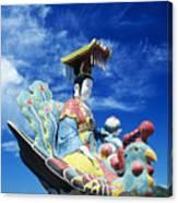 Tin Hua Temple Closeup Of Colorful Statue Canvas Print
