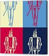 Tin Man Pop Art Poster Canvas Print