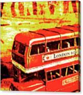 Tin Sign Travels Canvas Print