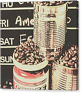 Tin Signs And Coffee Shops Canvas Print