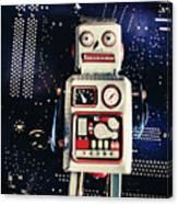 Tin Toy Robots Canvas Print