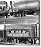 Tin Toy Trains Canvas Print
