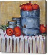 Red Pomegranates Canvas Print