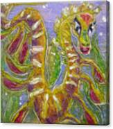 Tiny Anthropomorphic Sea Dragon 3 Canvas Print