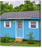 Tiny Blue House Canvas Print