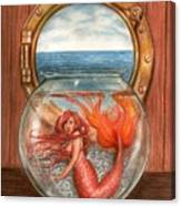 Tiny Mermaid Canvas Print