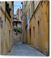 Tiny Street In Siena Canvas Print