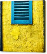 Tiny Window With Closed Shutter Canvas Print