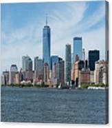 Tip Of Manhattan Wide Canvas Print