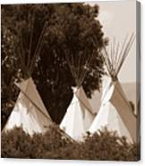 Tipis In Toppenish Canvas Print