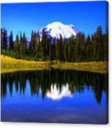 Tipsoo Lake And Mt Rainier Canvas Print