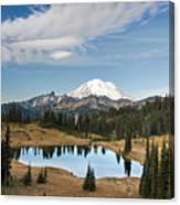 Tipsoo Lake And Rainier Canvas Print
