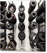 Tire Rack Canvas Print
