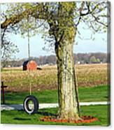 Tree Tire Swing  Canvas Print