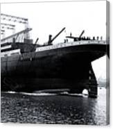 Titanic Being Launched Canvas Print