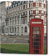 Titanic Hotel And Red Phone Box Canvas Print