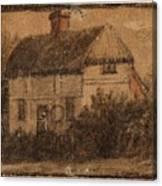 Title A Cottage Canvas Print