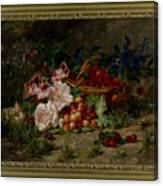 Title Flowers And Fruit Canvas Print