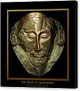 Titled Mask Of Agamemnon Canvas Print