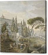 Tivoli With Villa Canvas Print