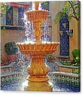 Tlaquepaque Fountain In Sunlight Canvas Print