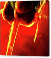Tmnt 1   -  Raphael Smoky Red. Canvas Print