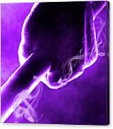Tmnt 2   -  Donatello Smoky Purple. Canvas Print