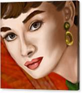 To Audrey Canvas Print