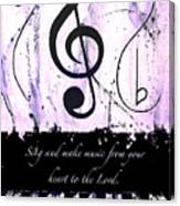 To The Lord - Purple Canvas Print