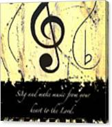 To The Lord - Yellow Canvas Print