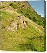 To The Top Of Arthur's Seat. Canvas Print