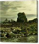 To Walk Alone Along Rocky Shores Canvas Print