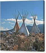 Tee Pees, Taos New Mexico Canvas Print