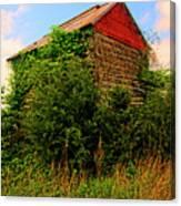 Tobacco Barn On A Rise Canvas Print