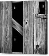 Tobacco Barn Wood Detail Canvas Print